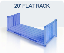 container 20 flat rack import china