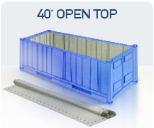 container 40 open top china